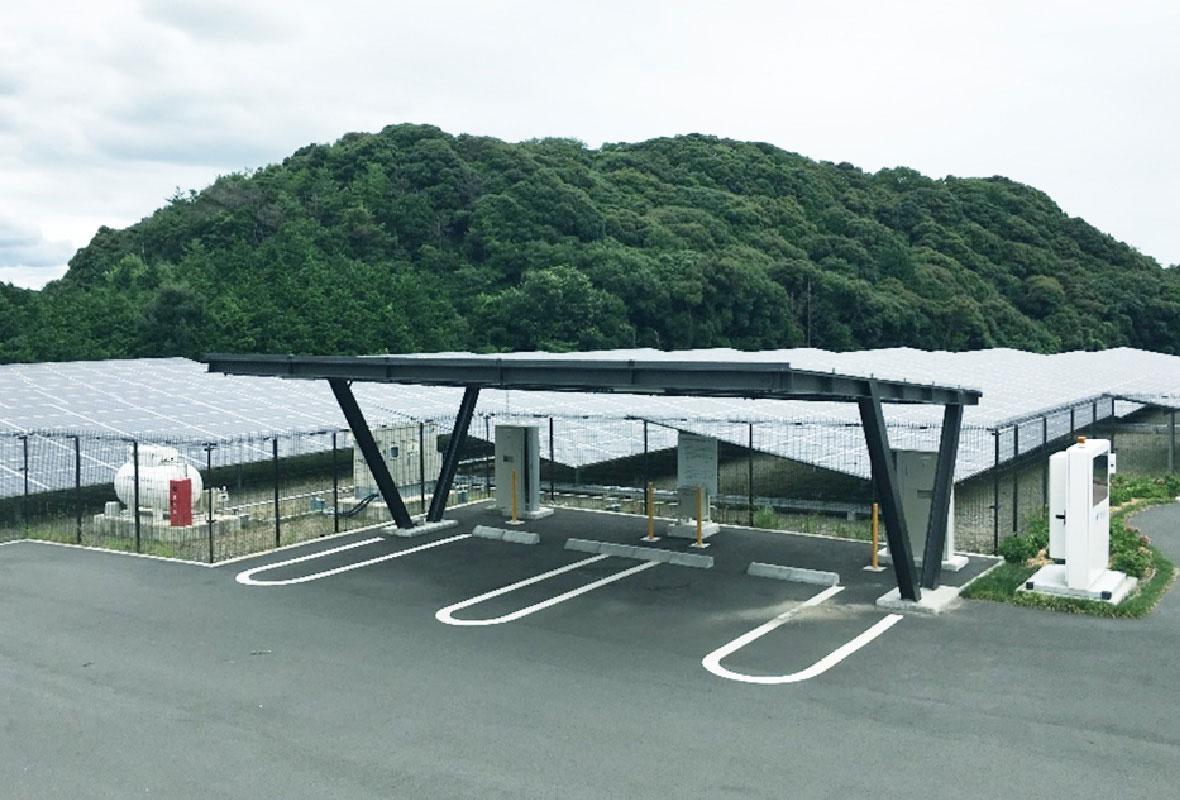 EV充電設備併用型ソーラーシステム